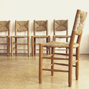 GALERIE DESPREZ BREHERET CHAIRS PERRIAND